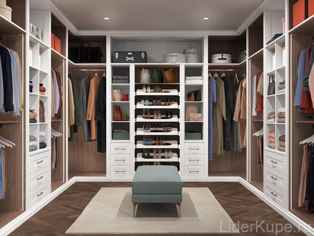 Сттильная гардеробная комната
